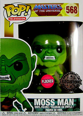 MASTERS OF THE UNIVERSE Moss Man - Limited Flocked - Funko Pop! MOTU