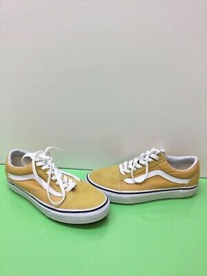 ba8c87aa6f8816 VANS Old Skool Yellow Canvas Suede Lace Up Skate Shoes Men s Size 6 Women s  7.5