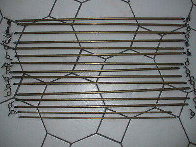 Reclaimed Brass Stair Rods x 13 with fittings