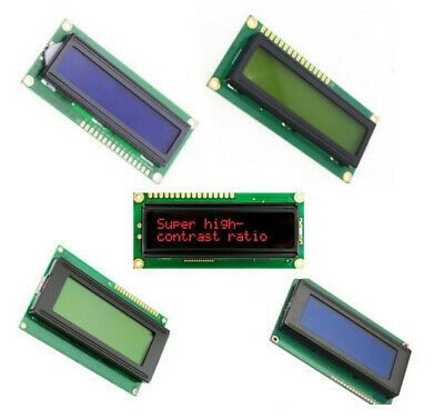 16x1 16x2 20x2 20x4 Green/Blue/Red HD44780 5V LCD Display Module Arduino PI I2C