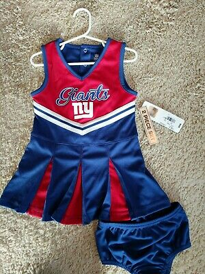 3dd5f5a00 Toddler Girls New York Giants 3T Cheerleader Outfit Dress NFL Authentic NEW
