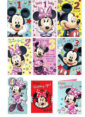 Official MICKEY MOUSE MINNIE DISNEY Birthday CardsAgesOpenGirls