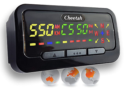 Cheetah C550 GPS Speed & Red Light Camera Detector with Life Membership