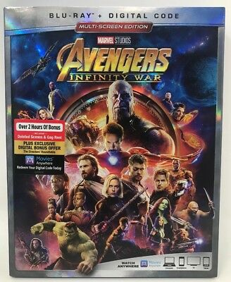 Avengers Infinity War unused DIGITAL CODE w/Bluray case NO DISCS / FREE USA SHIP
