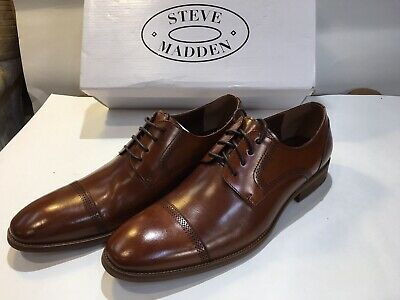 f69d53aee03 NEW STEVE MADDEN Kaiden Tan Cognac Leather Oxford Shoes Mens 10.5 ...
