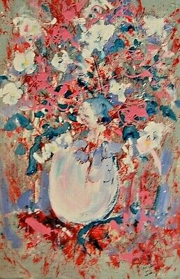"""""""Flowers"""" by Kinnison Smith -Original  Art Signed Acrylic Panting,"""
