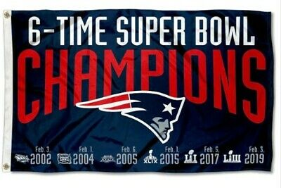 NEW ENGLAND PATRIOTS FLAG 3'X5' NFL Super Bowl LII Champion BANNER FREE SHIPING
