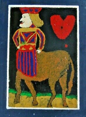 """""""Jackass of Hearts""""  by Dean Smith -Original Canvas Art Signed Oil Panting"""