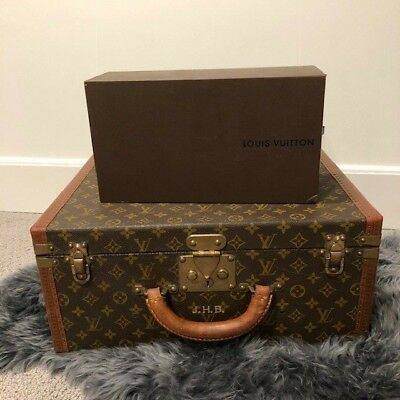 VINTAGE Louis Vuitton Brown Monogram Coated Canvas Top Handle Suitcase
