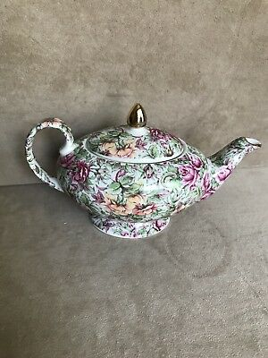 James Sadler  Florence Chintz 2 cup Footed teapotPersonal