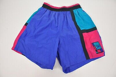 6ef6700264 Vintage SPEEDO Color Block Swim Trunks Size Small lined shorts 80's 90's