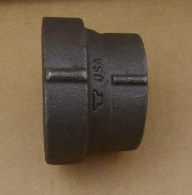 """Anvil 2X1-1/2""""NPT Malleable Iron Black Pipe Reducer Coupling NOS 067"""