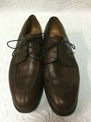 c2102136cbd ALLEN EDMONDS HANCOCK Brown Leather Dress Shoes - 10.5 D