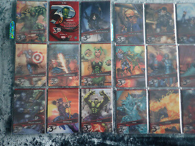 2015 Marvel 3-D  1-72 lenticular parallel near complete set (missing 1 card)