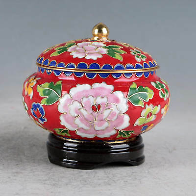 Chinese Cloisonne Hand-made Flowers Pot JTL1032`a