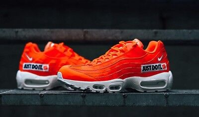 online store 717e7 d5475 Authentique Nike Air Max 95 Soi Jdi Just Do It Orange Blanc Noir Av6246 800
