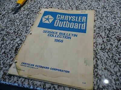 1968 Chrysler Outboard Service Bulletin Collection