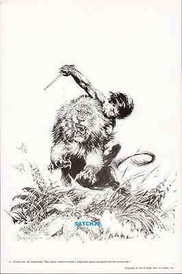 Frank Frazetta Art Print - 1973 Tarzan And The Castaways Original Print Classic