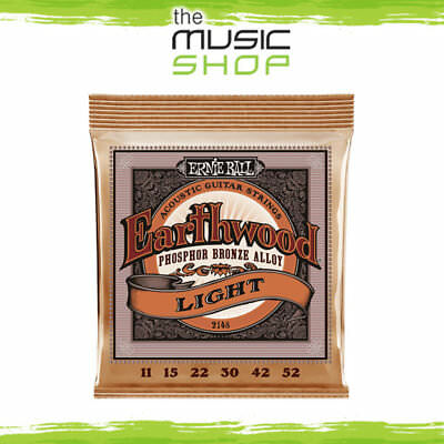 5x Ernie Ball 2148 Earthwood Phosphor Bronze Acoustic Guitar Strings 11-52 Light