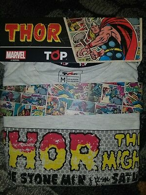 NIP Marvel Comics The Mighty Thor t-shirt & Boxer Gift Set with Retro Art Size M