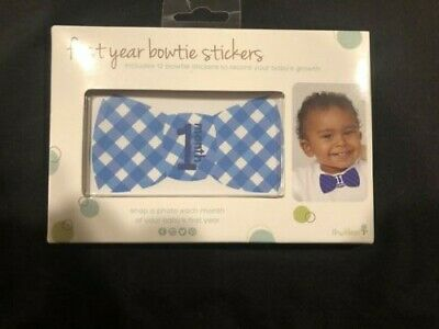 Tiny Ideas First Year Monthly Milestone Bowtie Photo Sharing Baby Stickers NEW!!