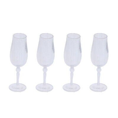 1/12 Dolls House Miniature Tableware 4pcs Cup Goblet Wine Glass Kitchen