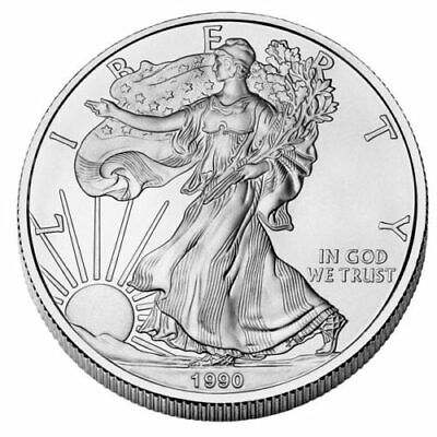 1 OZ dollaro USA LIBERTY EAGLE 1990 ARGENTO SILVER ONCIA