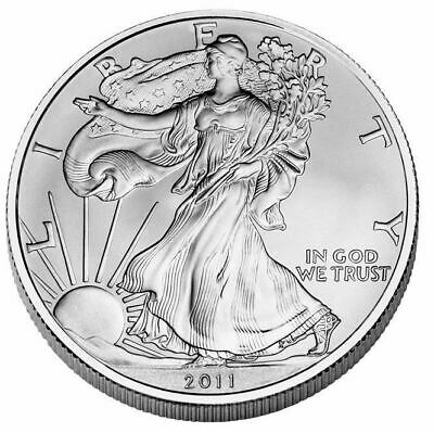 1 OZ dollaro USA LIBERTY EAGLE 2011 ARGENTO SILVER ONCIA