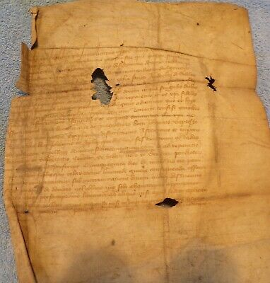 Early Vellum Document in Latin