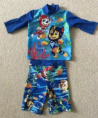 Paw Patrol 2 Piece Swim Suit Boys Age 1-1.5 Years