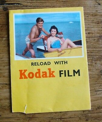 Vintage Kodak Film Envelope 1950's / Early 1960's - Adverts for Colour and Flash