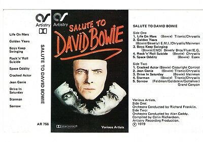 David Bowie Rare Cassette Cover Version Picture Card By Chester Kamen New Unused