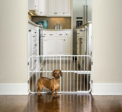 Expandable Pet Gate 26 42 Inches Wide Dog Baby With Cat Door Small Metal Extra