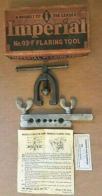 Vintage Imperial  Flaring Tool No. 93-F original Orange box with instructions