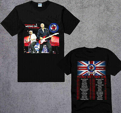 New The Who Moving On Tour Dates 2019 T-Shirt Black Tshirt size S-3XL