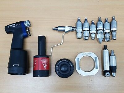 Synthes TRS Trauma Recon modular drive drill - 9 drivers - battery charger - bur