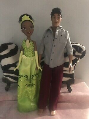 75be4575c27 DISNEY STORE PRINCESS And The FROG TIANA   Naveen Doll Lot Of 2 ...