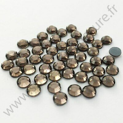 Strass thermocollant hotfix GRIS, 2mm, 3mm, 4mm, 5mm,  6mm au choix