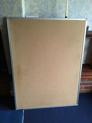 Office Cork Notice Board | Pin Board with Aluminium Frame - W37      L 47 Inches