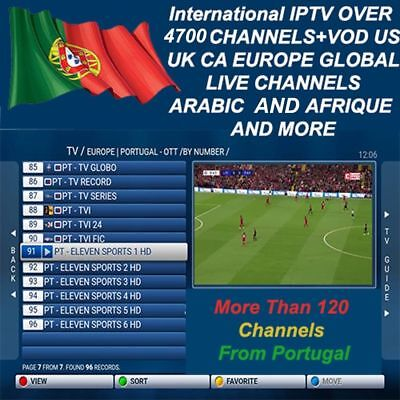 """1 Year"" 12 Months Premium Iptv Subscription [Portugal ,uk, Europe, Arabic...]"