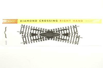 New Hornby R615 Right Hand Diamond Crossing Packeted Nickel Silver Free Post