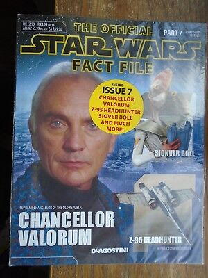 STAR WARS FACT FILE part 7 CHANCELLOR VALORUM  , STILL SEALED IN BAG