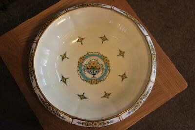 Superb Large Antique Minton Shallow Dish On Single Foot Pattern A1492