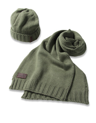 e3ede237d5b DIESEL Hat Scarf Mens Set One Size In Gift Box Beanie Winter Warm New Boys  Mens