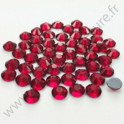 Strass thermocollant hotfix BORDEAUX, 2mm, 3mm, 4mm, 5mm,  6mm au choix