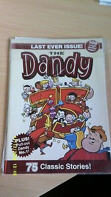 The Dandy Last ever Comic plus pullout Dandy No 1. Mint condition