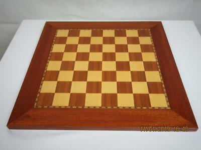 VINTAGE CHESS BOARD  39 cm SQUARES OF 36 mm NO PIECES