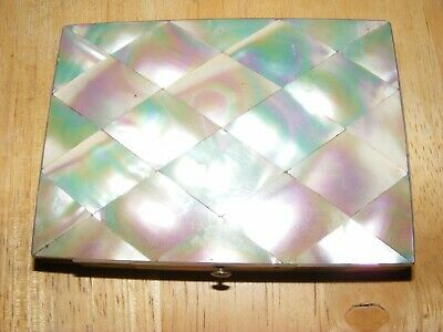 mother of pearl card case,antique,nice item,circa 1900,collectable,nice display.