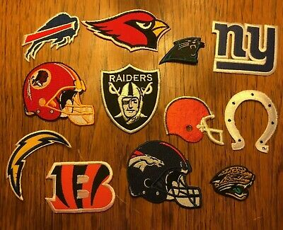 NFL Football Lot of (12) All Different Team Logo Iron-On Patches *NEW*