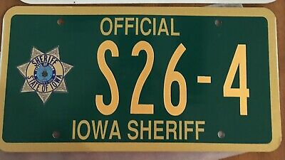 Iowa Sheriff License Plate S26-4  Davis County